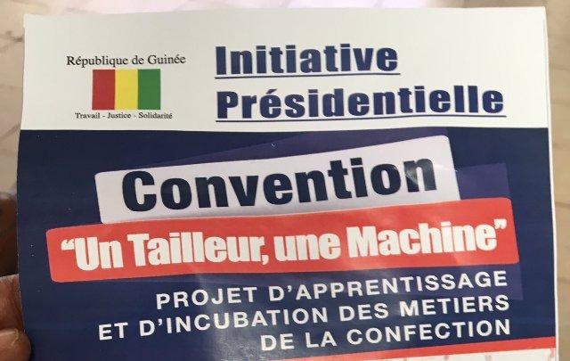 #UnTailleurUneMachine Guinée