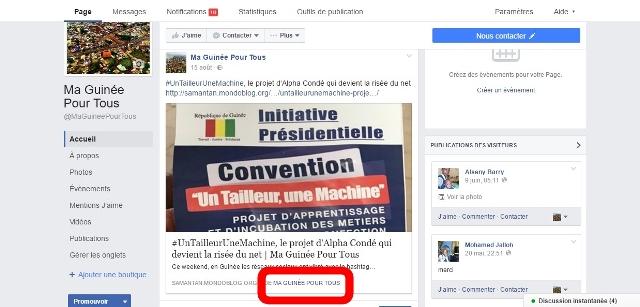 Capture facebook nom auteur Ma Guinée Pour Tous