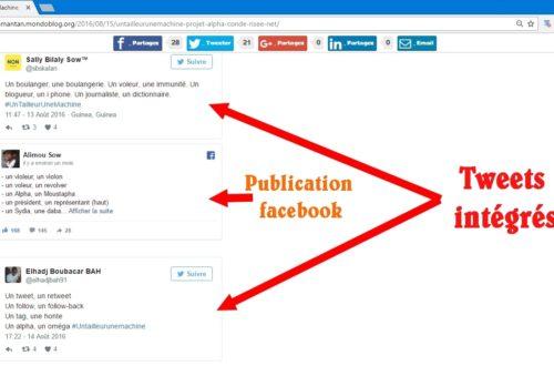 Article : Comment intégrer un tweet ou un post facebook dans votre article
